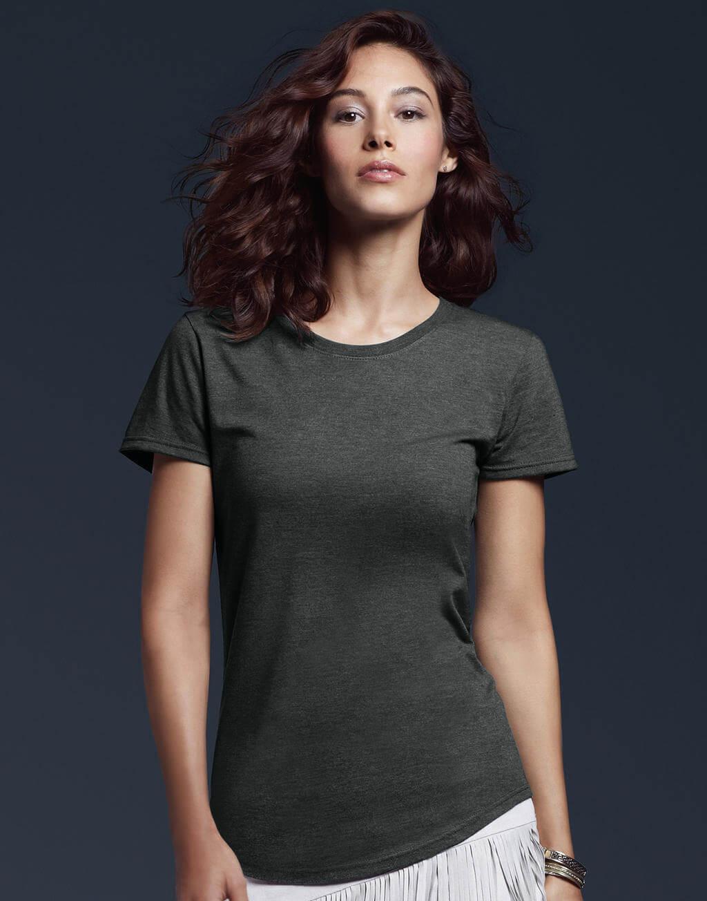 6750L Dámske Tri-Blend tričko
