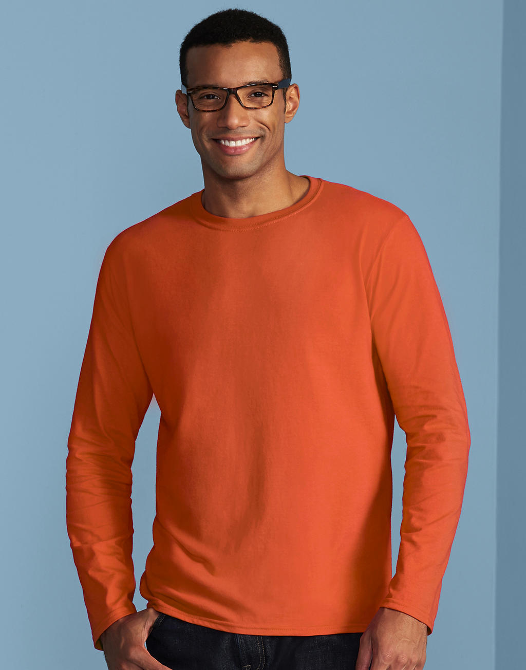 64400 SOFTSTYLE® ADULT tričko s dlhým rukávom