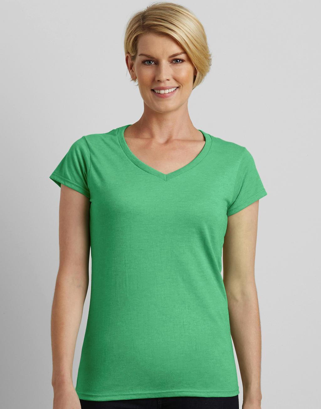 64V00L SOFTSTYLE® LADIES v-neck tričko