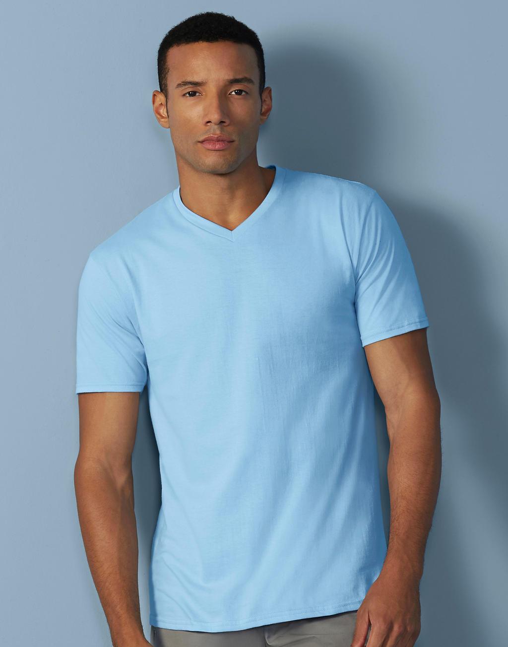 41V00 PREMIUM COTTON® ADULT v-neck tričko