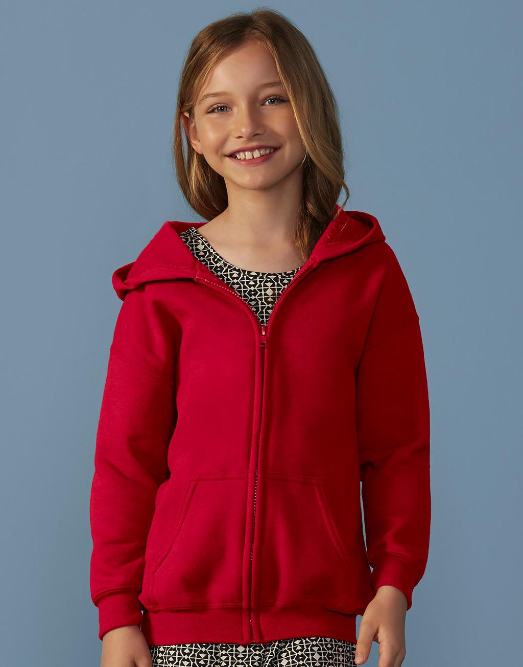 18600B HEAVY BLEND™ YOUTH full zip hooded mikina