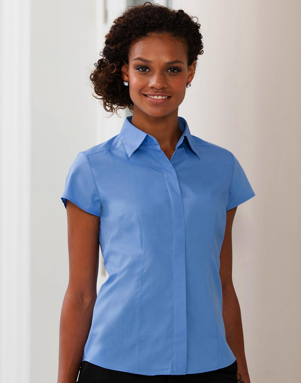 R-925F-0 Dámska košeľa Poplin