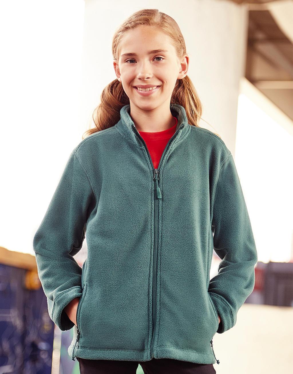 R-870B-0 Detská fleecová bunda na zips